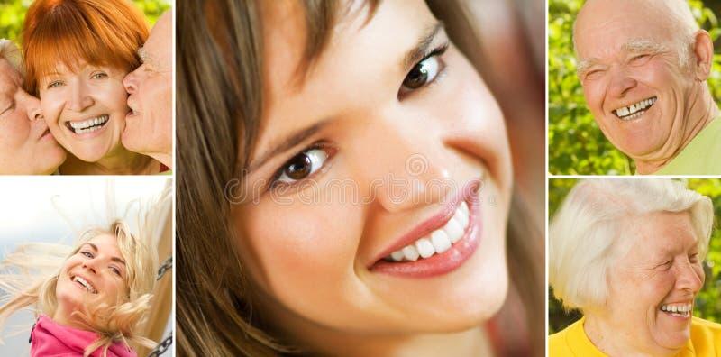 χαμόγελο ανθρώπων κολάζ στοκ εικόνα με δικαίωμα ελεύθερης χρήσης