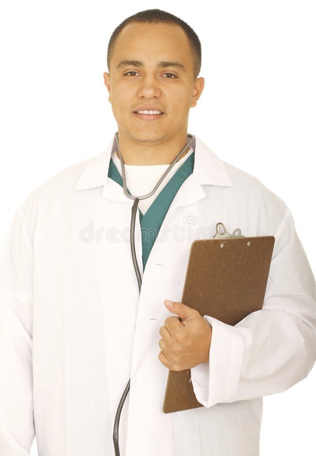 χαμόγελο εκμετάλλευσης γιατρών συνδετήρων χαρτονιών στοκ φωτογραφία με δικαίωμα ελεύθερης χρήσης