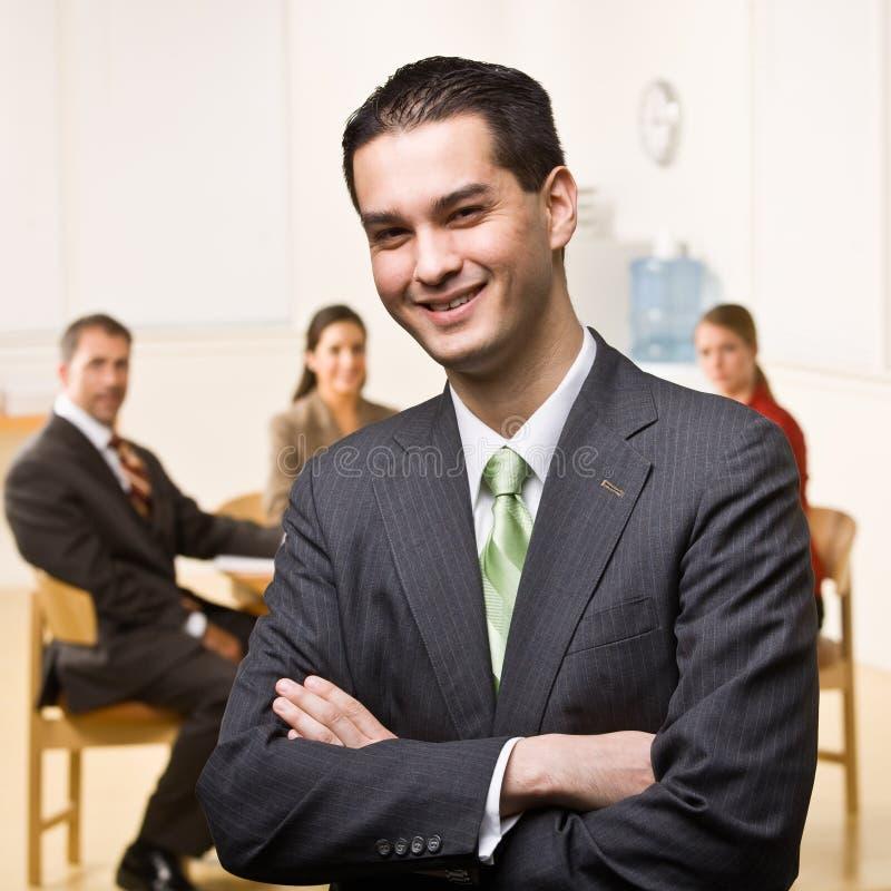 Download χαμόγελο επιχειρηματιών στοκ εικόνες. εικόνα από τέσσερα - 17051772