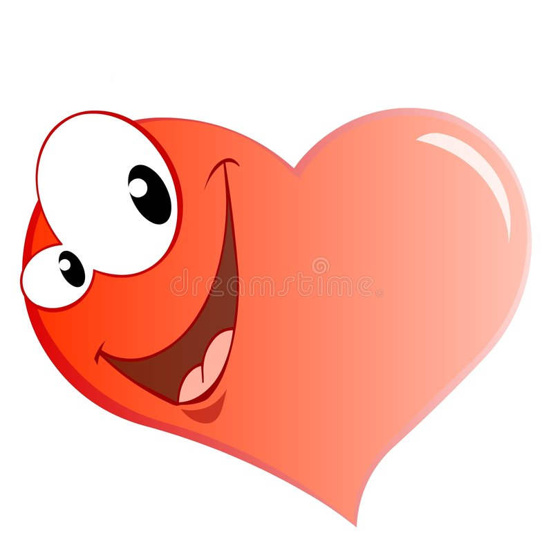χαμόγελο καρδιών διανυσματική απεικόνιση