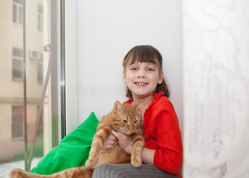 χαμόγελο κοριτσιών γατών στοκ εικόνες με δικαίωμα ελεύθερης χρήσης