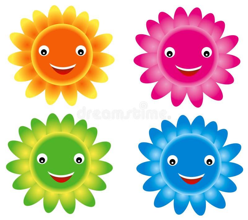 χαμόγελο λουλουδιών ελεύθερη απεικόνιση δικαιώματος