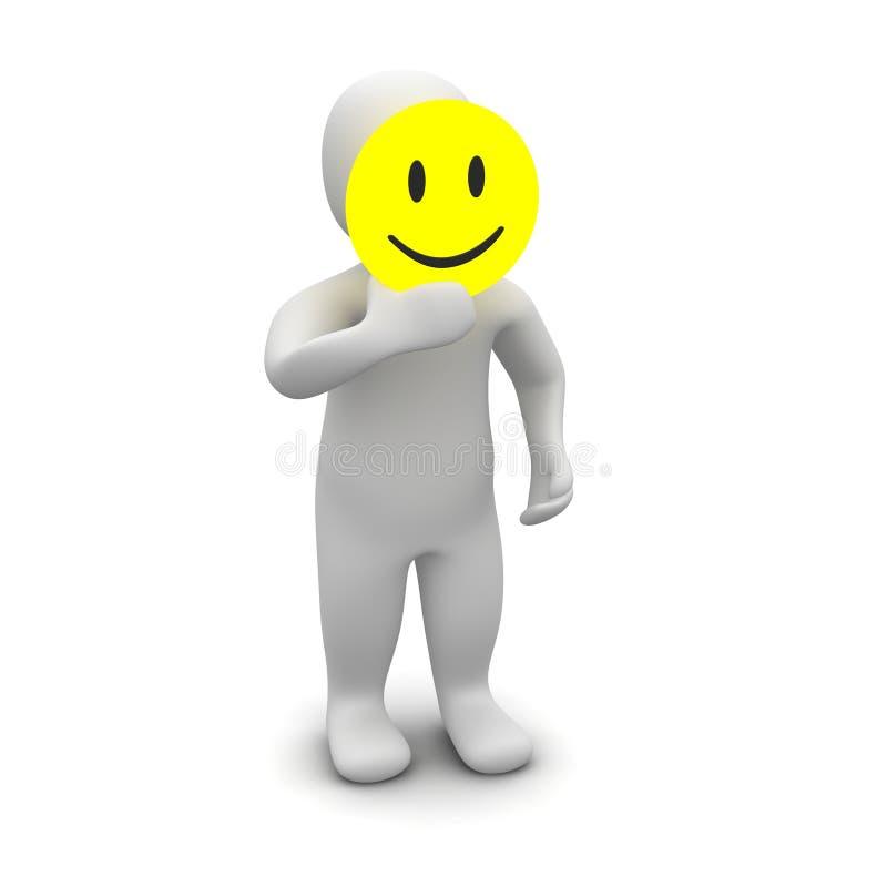 χαμόγελο μασκών ατόμων ελεύθερη απεικόνιση δικαιώματος