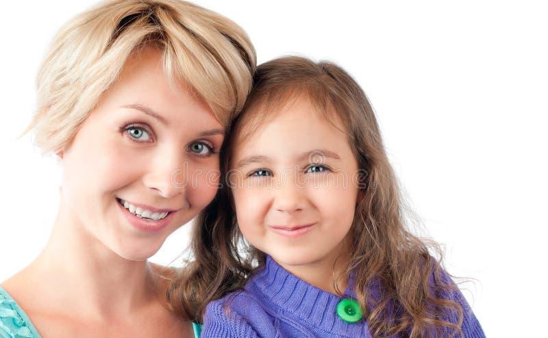 χαμόγελο μητέρων κορών στοκ εικόνα