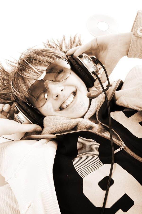 χαμόγελο μουσικής στοκ εικόνες με δικαίωμα ελεύθερης χρήσης