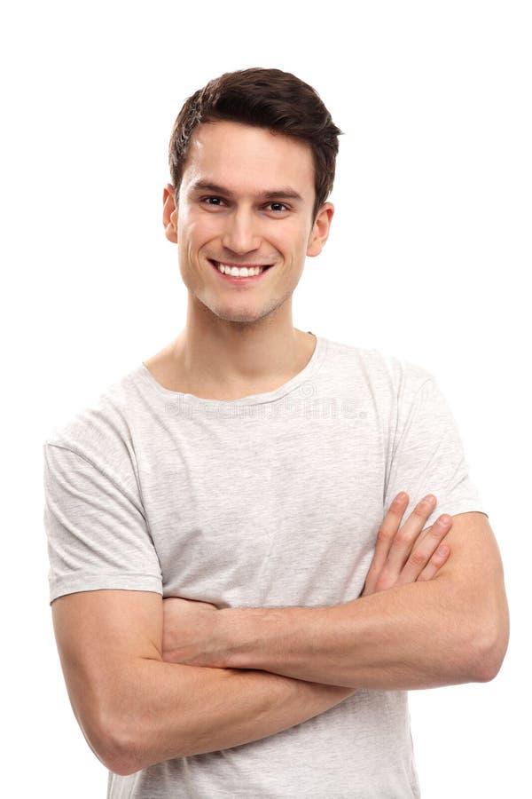 Χαμόγελο νεαρών άνδρων στοκ εικόνες