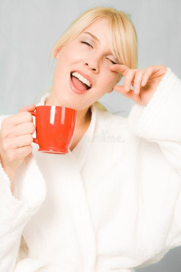 χαμόγελο πρωινού στοκ φωτογραφία