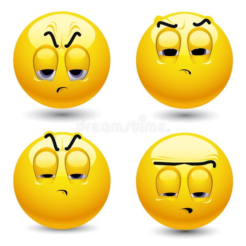χαμόγελο σφαιρών διανυσματική απεικόνιση