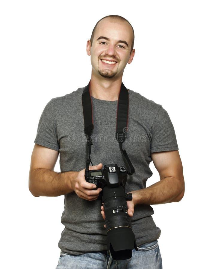 χαμόγελο φωτογράφων στοκ φωτογραφία με δικαίωμα ελεύθερης χρήσης