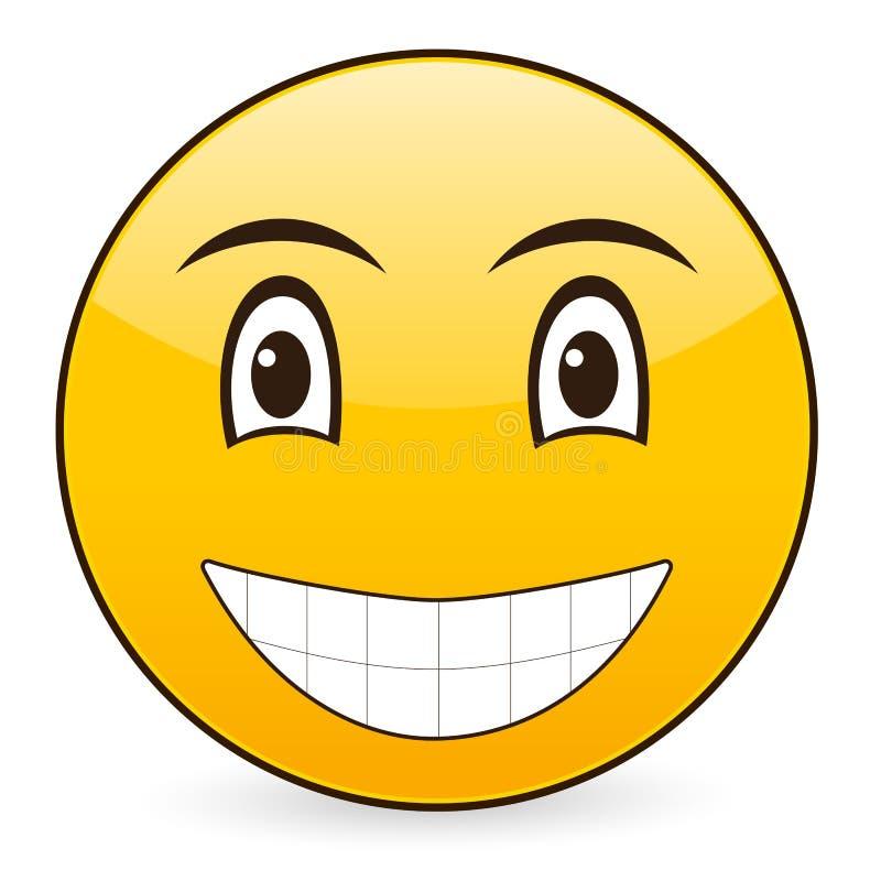 χαμόγελο 7 εικονιδίων ελεύθερη απεικόνιση δικαιώματος