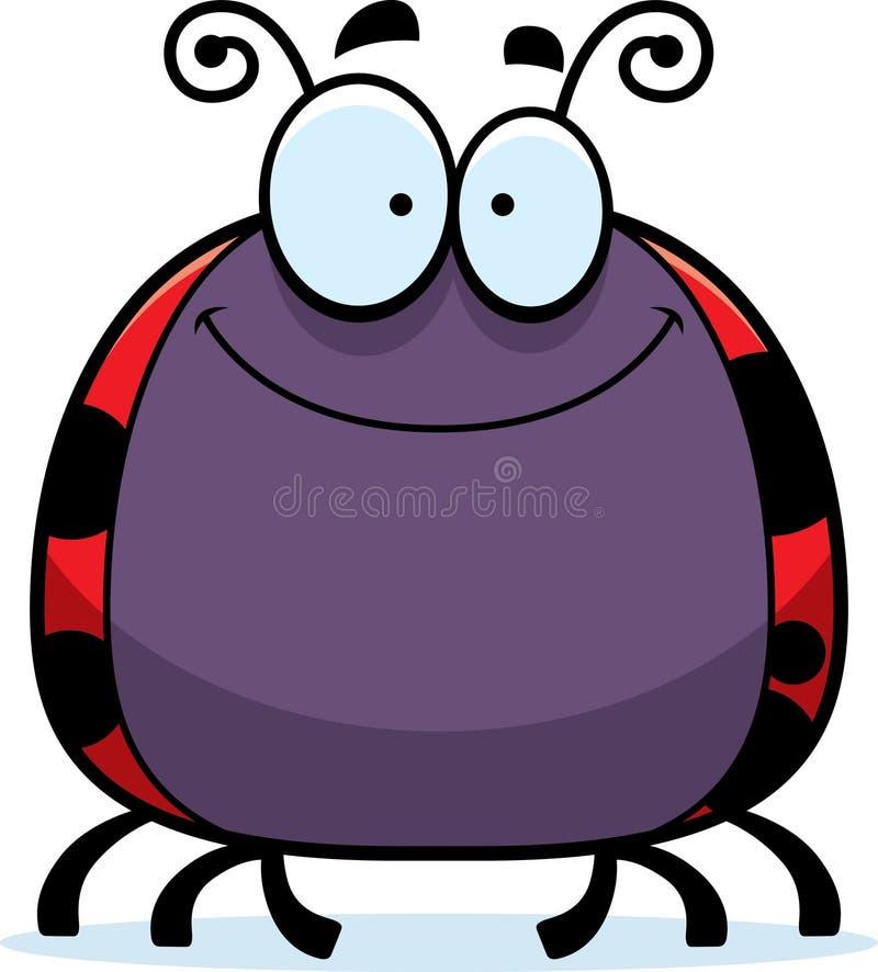 Χαμόγελο λίγου Ladybug απεικόνιση αποθεμάτων