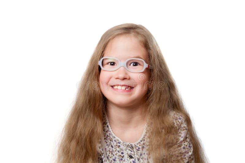 χαμόγελο γυαλιών κοριτ&sig στοκ εικόνες με δικαίωμα ελεύθερης χρήσης