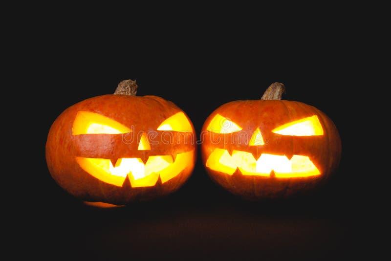 Χαμόγελο κολοκυθών αποκριών και τρομακτικά μάτια για τη νύχτα κομμάτων στοκ φωτογραφία με δικαίωμα ελεύθερης χρήσης