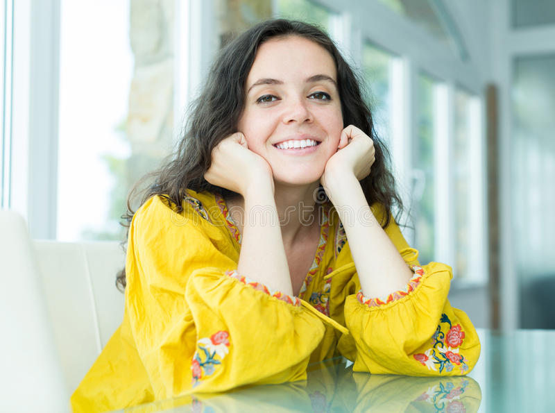 χαμόγελο πορτρέτου κορ&iota στοκ εικόνα με δικαίωμα ελεύθερης χρήσης