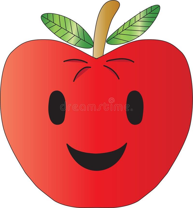 Χαμόγελο της Apple στοκ εικόνα με δικαίωμα ελεύθερης χρήσης
