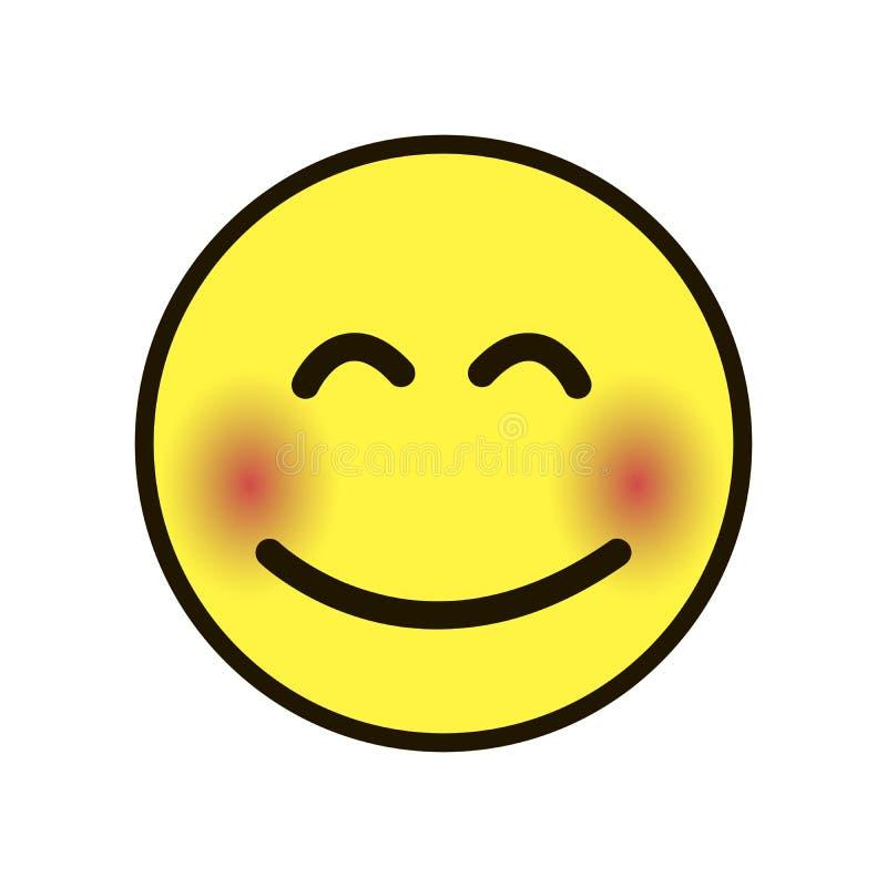 Χαμόγελο Smiley εικονιδίων κίτρινο σε ένα άσπρο υπόβαθρο στοκ εικόνες