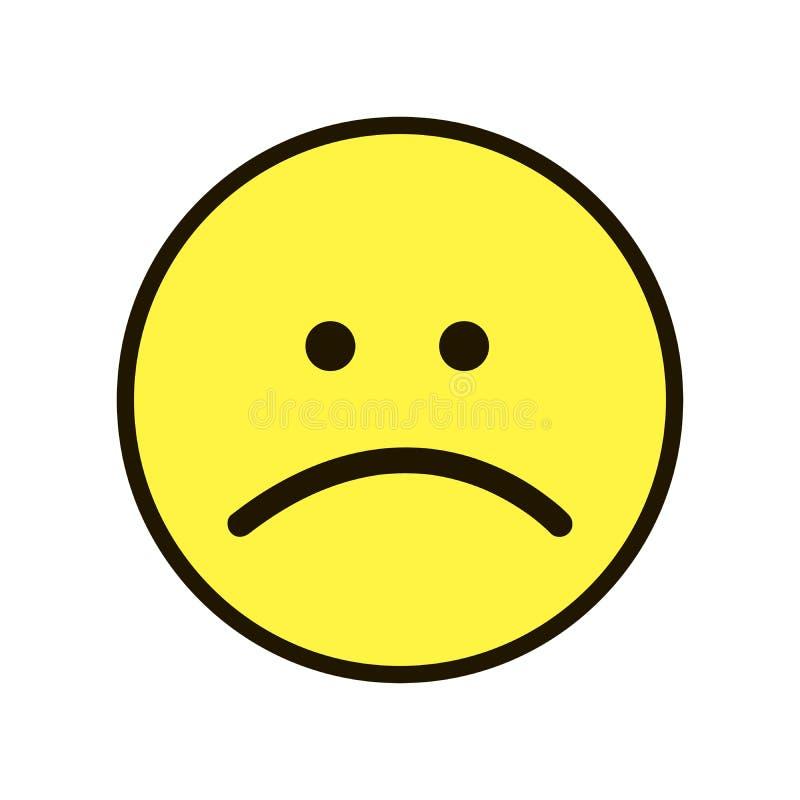 Χαμόγελο Smiley εικονιδίων κίτρινο σε ένα άσπρο υπόβαθρο στοκ εικόνα