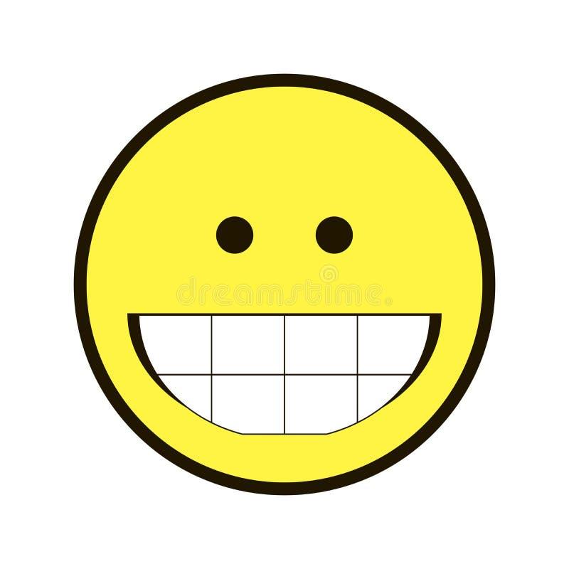 Χαμόγελο Smiley εικονιδίων κίτρινο σε ένα άσπρο υπόβαθρο στοκ φωτογραφία με δικαίωμα ελεύθερης χρήσης