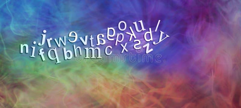 Χαοτικό δυσλεκτικό αλφάβητο με τις επιστολές διανυσματική απεικόνιση