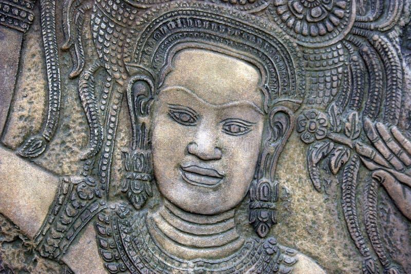 χαράζοντας πέτρα Ταϊλανδός στοκ εικόνες