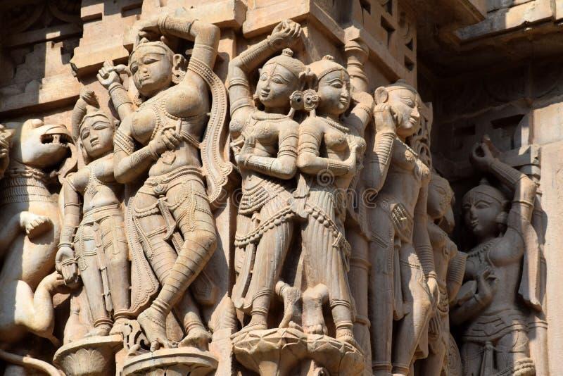 Χαράζοντας στο ναό jagdish, Rajasthan στοκ εικόνες με δικαίωμα ελεύθερης χρήσης