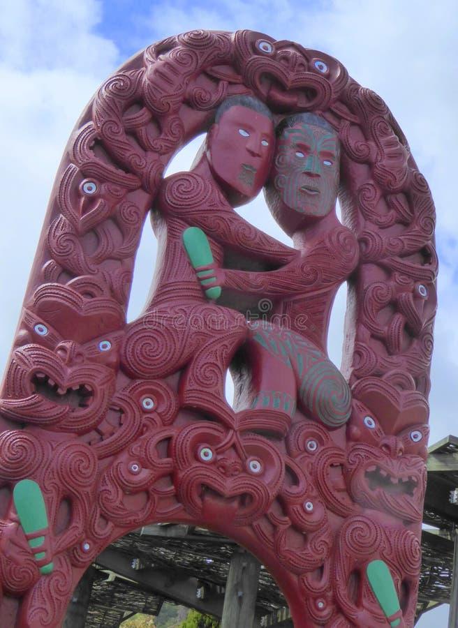 χαράζοντας maori δάσος στοκ εικόνες