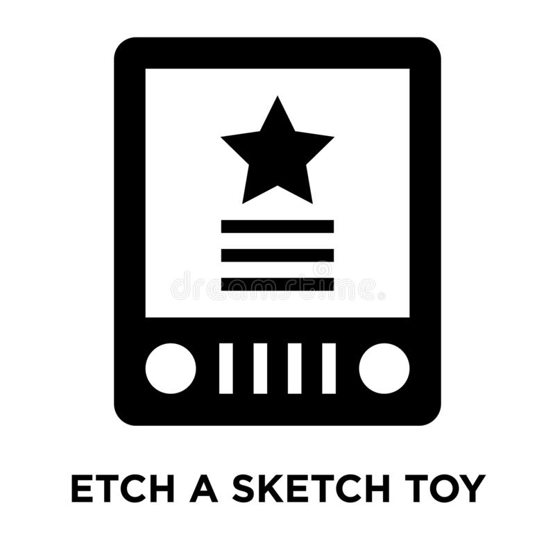 Χαράξτε ένα διάνυσμα εικονιδίων παιχνιδιών σκίτσων που απομονώνεται στο άσπρο υπόβαθρο, λογότυπο ελεύθερη απεικόνιση δικαιώματος