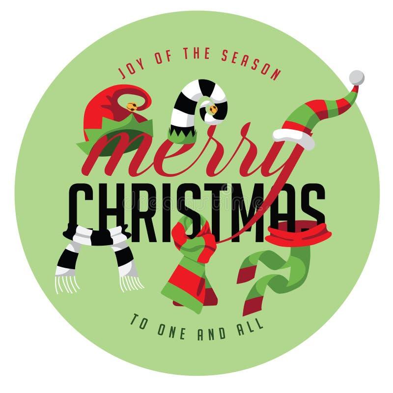 Χαρά Χαρούμενα Χριστούγεννας της εποχής ελεύθερη απεικόνιση δικαιώματος