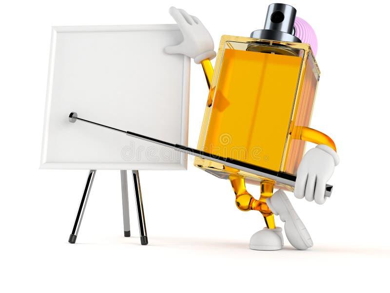 Χαρακτήρας αρώματος με το κενό whiteboard ελεύθερη απεικόνιση δικαιώματος