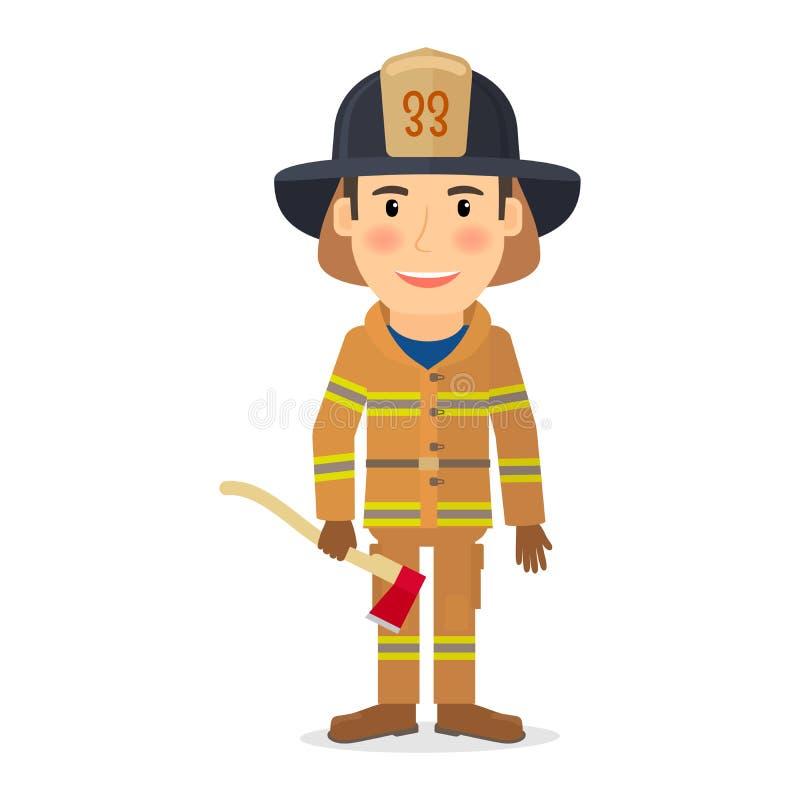 Χαρακτήρας ατόμων πυροσβεστών απεικόνιση αποθεμάτων