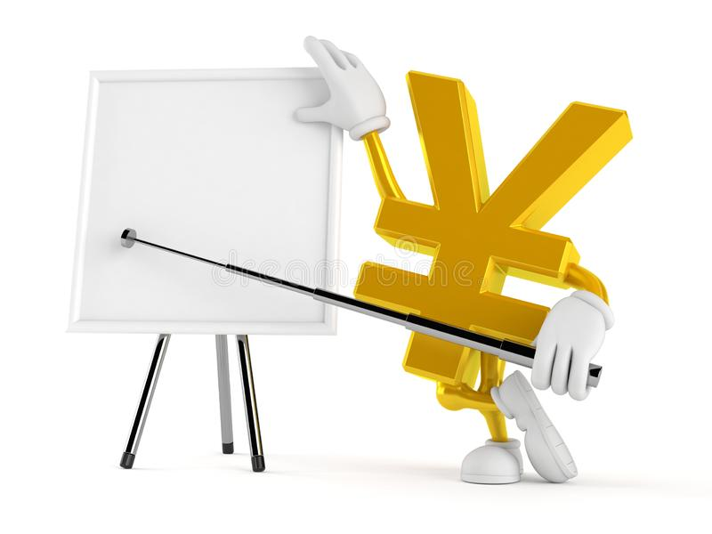 Χαρακτήρας γεν με το κενό whiteboard διανυσματική απεικόνιση