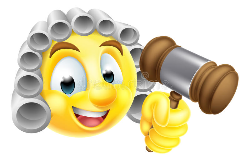 Χαρακτήρας δικαστών Emoji Emoticon απεικόνιση αποθεμάτων