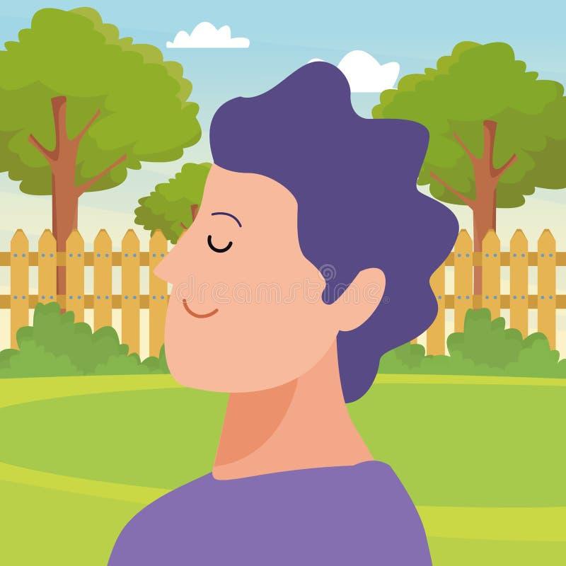 Χαρακτήρας κινουμένων σχεδίων ειδώλων πορτρέτου ατόμων ελεύθερη απεικόνιση δικαιώματος