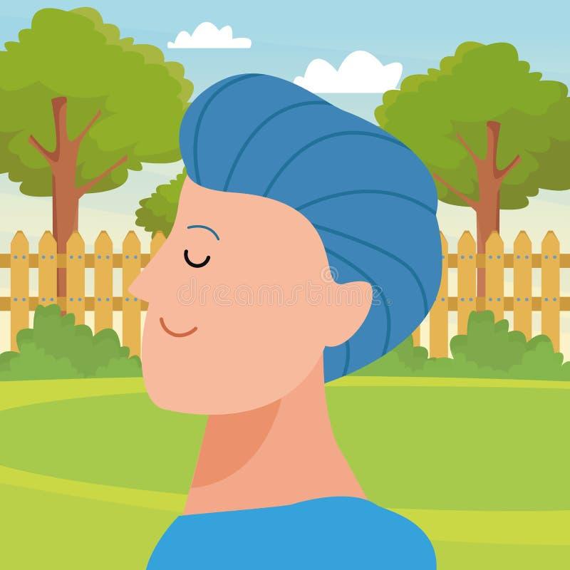Χαρακτήρας κινουμένων σχεδίων ειδώλων πορτρέτου ατόμων διανυσματική απεικόνιση
