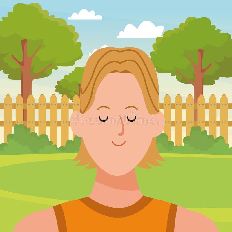 Χαρακτήρας κινουμένων σχεδίων ειδώλων πορτρέτου ατόμων απεικόνιση αποθεμάτων