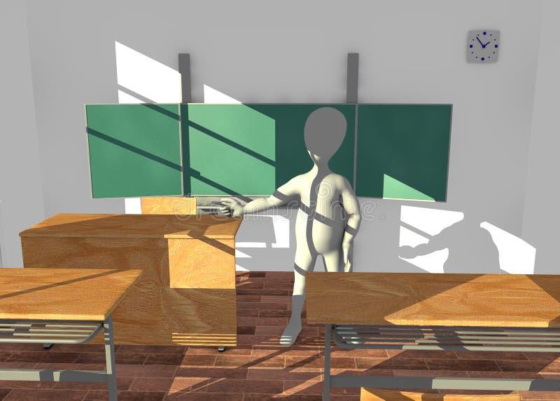 Χαρακτήρας κινουμένων σχεδίων στη διδασκαλία τάξεων πριν από boa απεικόνιση αποθεμάτων