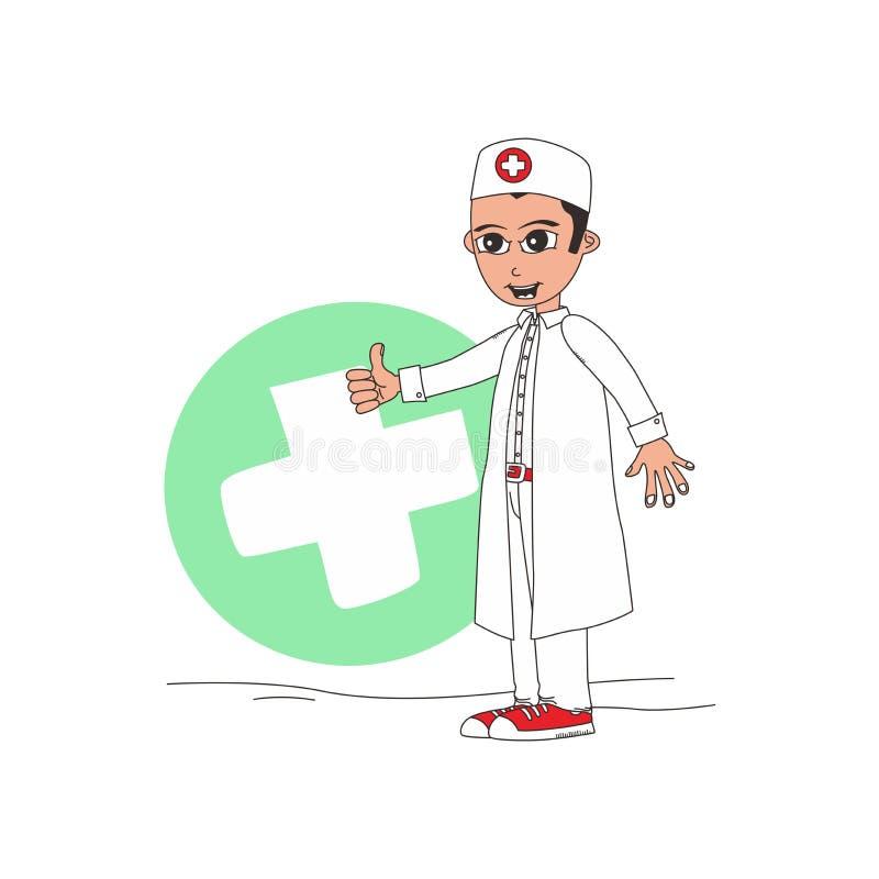 Download Χαρακτήρας κινουμένων σχεδίων γιατρών Διανυσματική απεικόνιση - εικονογραφία από άνθρωποι, υπόδειξη: 62713181