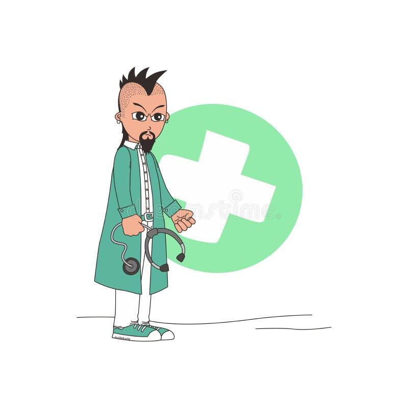 Download Χαρακτήρας κινουμένων σχεδίων γιατρών Διανυσματική απεικόνιση - εικονογραφία από εξέταση, προσοχή: 62713184