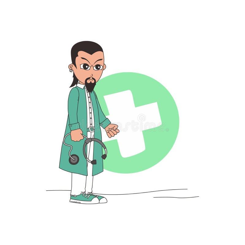 Download Χαρακτήρας κινουμένων σχεδίων γιατρών Διανυσματική απεικόνιση - εικονογραφία από εμφάνιση, πρεσβύτερος: 62713188