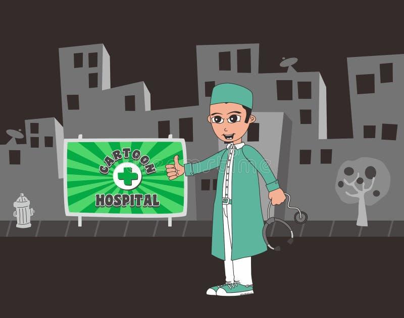 Download Χαρακτήρας κινουμένων σχεδίων γιατρών Διανυσματική απεικόνιση - εικονογραφία από επικοινωνία, cartoon: 62713218