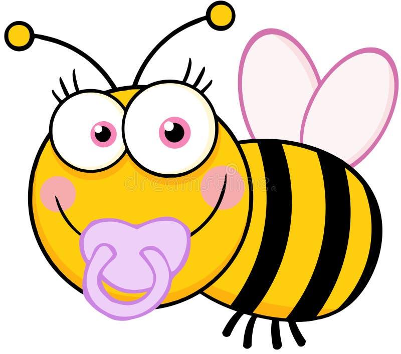 Χαρακτήρας κινουμένων σχεδίων μελισσών κοριτσάκι διανυσματική απεικόνιση