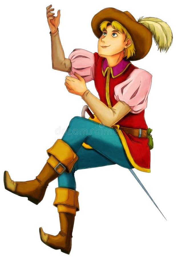Χαρακτήρας κινουμένων σχεδίων παραμυθιού - απεικόνιση για τα παιδιά διανυσματική απεικόνιση