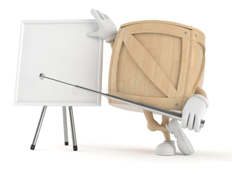 Χαρακτήρας κλουβιών με το κενό whiteboard ελεύθερη απεικόνιση δικαιώματος