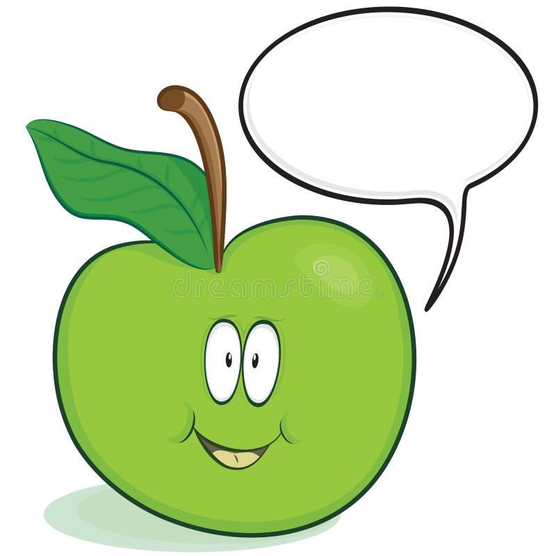 χαρακτήρας μήλων χαριτωμέν&om απεικόνιση αποθεμάτων