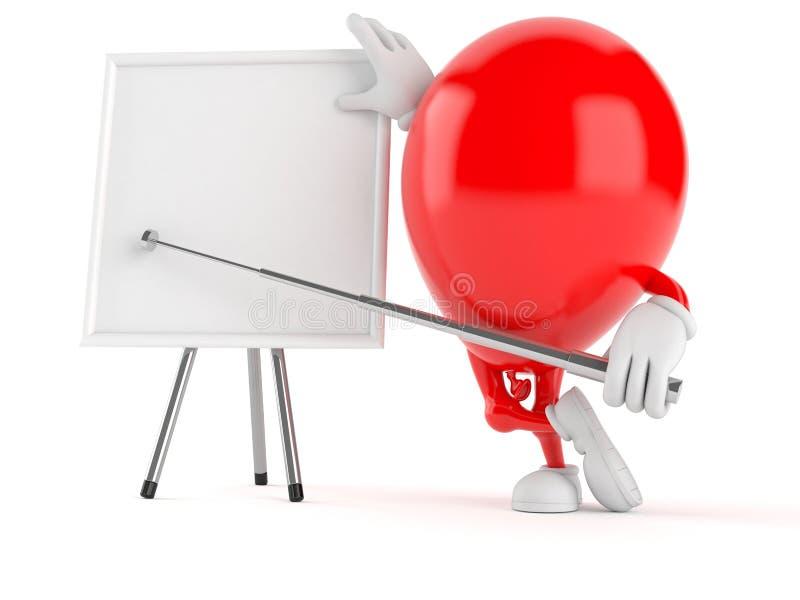 Χαρακτήρας μπαλονιών με το κενό whiteboard διανυσματική απεικόνιση