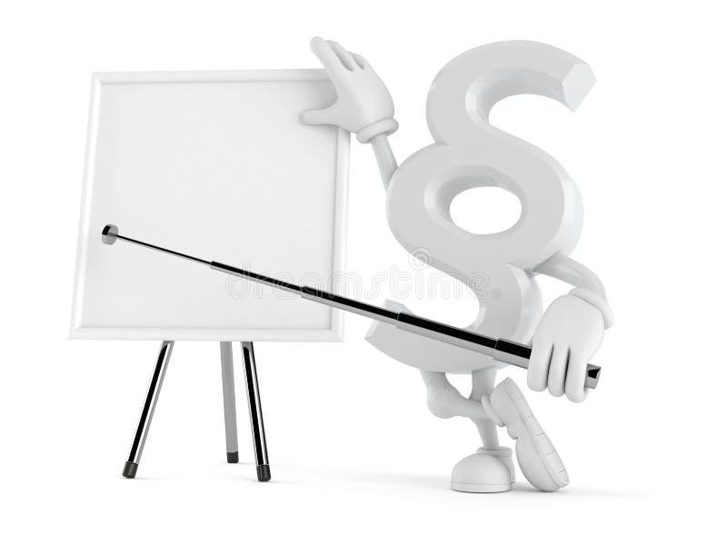 Χαρακτήρας παραγράφου με το κενό whiteboard ελεύθερη απεικόνιση δικαιώματος