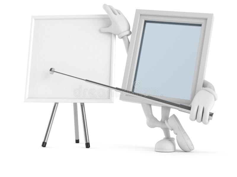 Χαρακτήρας παραθύρων με το κενό whiteboard απεικόνιση αποθεμάτων