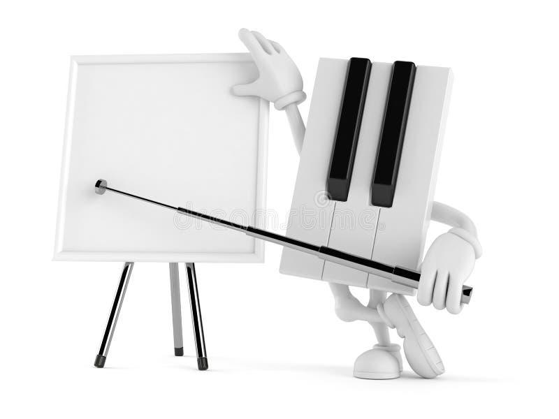 Χαρακτήρας πιάνων με το κενό whiteboard απεικόνιση αποθεμάτων