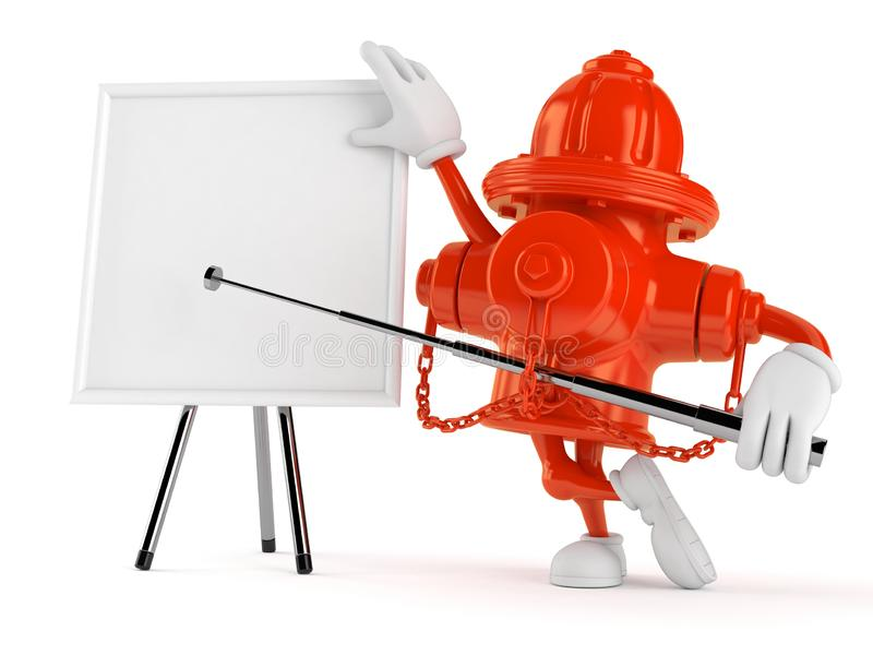 Χαρακτήρας στομίων υδροληψίας με το κενό whiteboard απεικόνιση αποθεμάτων