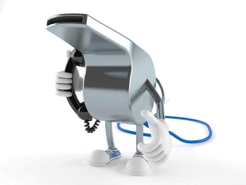 Χαρακτήρας συριγμού που κρατά ένα τηλεφωνικό μικροτηλέφωνο απεικόνιση αποθεμάτων